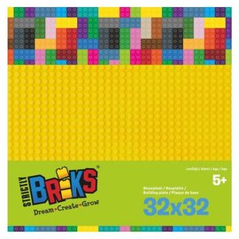 Strictly BRIKS Strictly BRIKS LBP32YL Bouwplaat 32x32 Geel