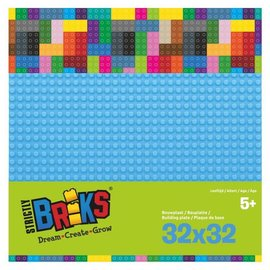 Strictly BRIKS Strictly BRIKS LBP32TQ Bouwplaat 32x32 Lichtblauw