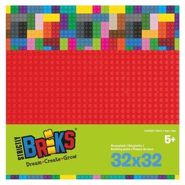 Strictly BRIKS Strictly BRIKS LBP32RD Bouwplaat 32x32 Rood