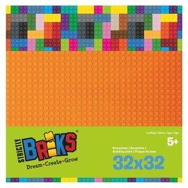 Strictly BRIKS Strictly BRIKS LBP32OR Bouwplaat 32x32 Oranje