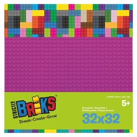 Strictly BRIKS Strictly BRIKS LBP32MA Bouwplaat 32x32 Magenta