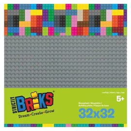 Strictly BRIKS Strictly BRIKS LBP32DG Bouwplaat 32x32 Donkergrijs