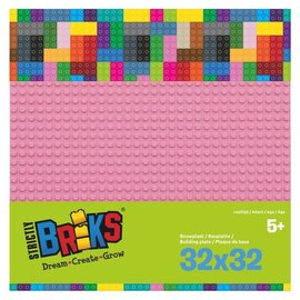 Strictly BRIKS Strictly BRIKS LBP32LP Bouwplaat 32x32 Lichtroze