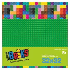 Strictly BRIKS Strictly BRIKS LBP32GR Bouwplaat 32x32 Groen