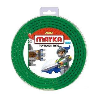 Zuru-Mayka Zuru-Mayka W2G Block Tape 4 Noppen 2m Groen - LEGO Compatible