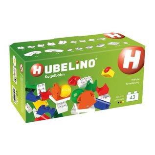 Hubelino HUBELINO knikkerbaan aanvulset wissel, 43 delig