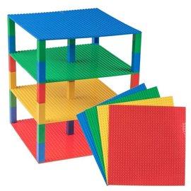 Strictly BRIKS Strictly BRIKS Tower LTW32430MP4 BRIK Tower 32x32 4 Verdiepingen - Blauw, Groen, Rood, Geel