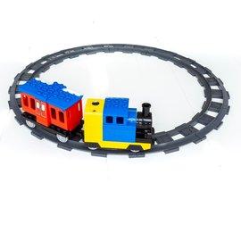 Huimei Electrische Stoom Trein met Wagon en Treinrails