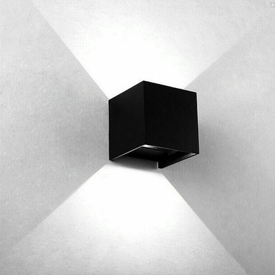 The Grand CUBE Wall Light Black