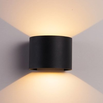 The Grand CUBE Wall Light Black Round