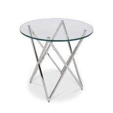 The Grand ROME Side Table Silver