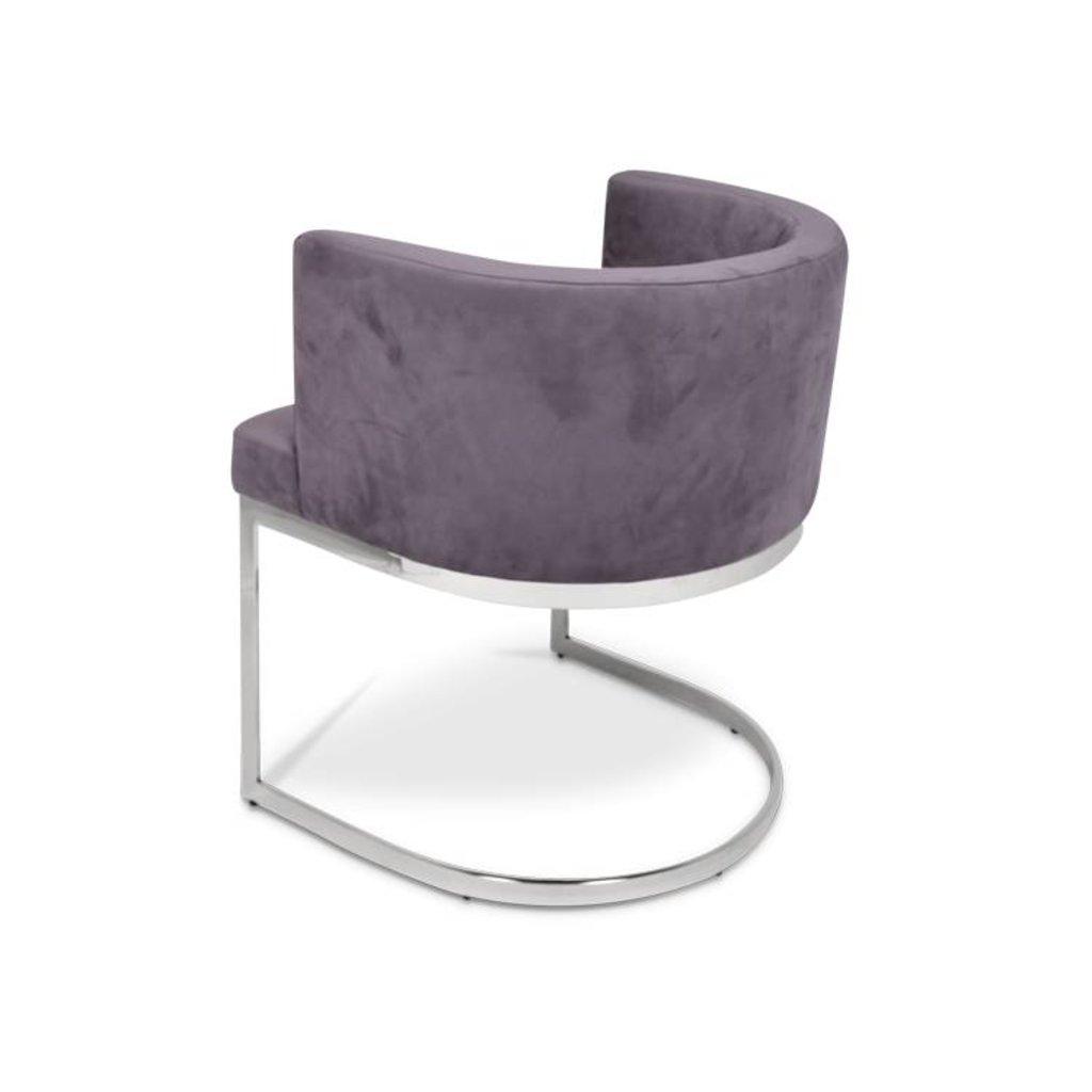 The Grand PIMLICO Dining Chair Mid Grey Velvet