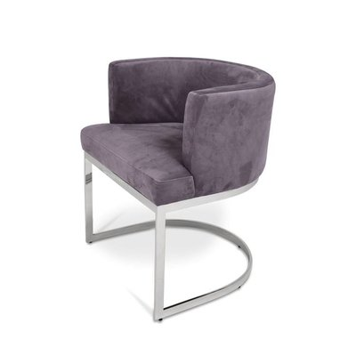 The Grand PIMLICO Dining Chair Mid Grey Velvet