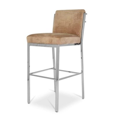 The Grand PALMCOURT Bar Stool Taupe Velvet