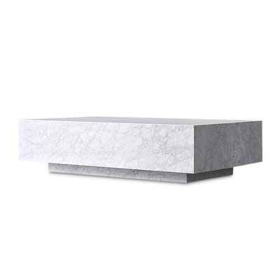 The Grand PIENO CARRARA Coffee Table White Square