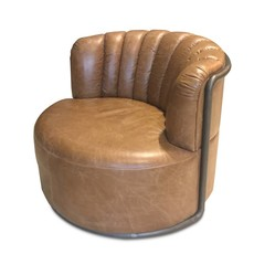 The Grand MONTI Arm Chair Brown Leather