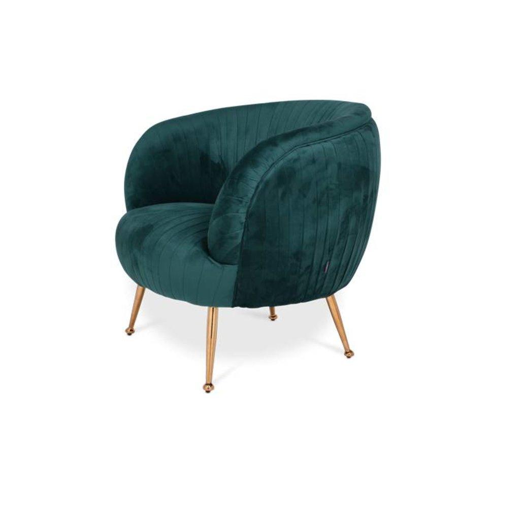 The Grand PERUGIA Arm Chair Emerald Velvet