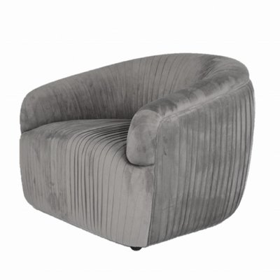 The Grand CONNOR Arm Chair Mid Grey Velvet