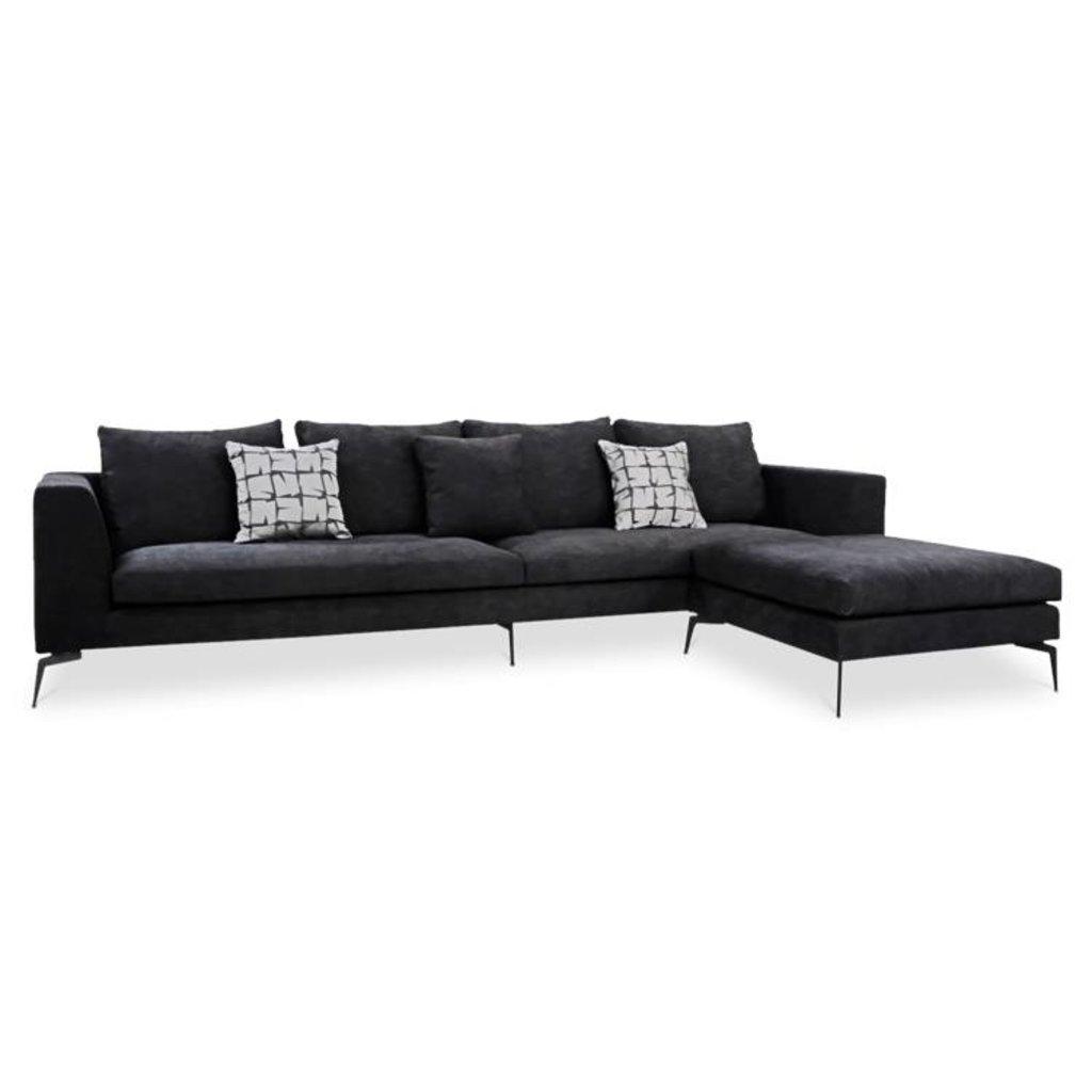 DONATELLA Corner Sofa Black Velvet | The Grand Interior - The Grand ...