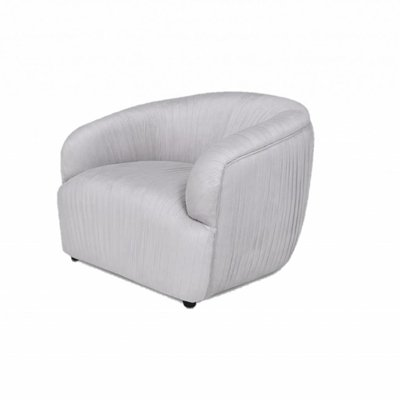 The Grand CONNOR Arm Chair Elephant Breath Velvet