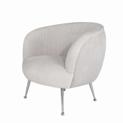 The Grand PERUGIA Arm Chair Elephant Breath Velvet