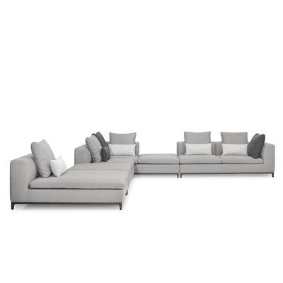 The Grand GIULIA Corner Sofa Mid Grey Hopsack