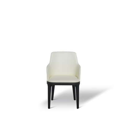 The Grand FEBE Dining Chair Ivory Leather