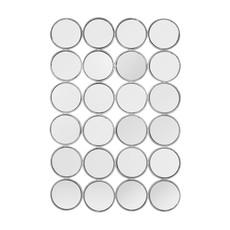 The Grand CIRCOLO Wall Mirror Silver 80x120
