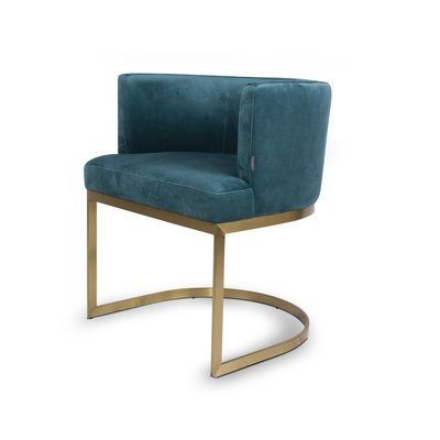 The Grand PIMLICO Dining Chair Pine Green Velvet