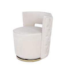The Grand SWAN Arm Chair Elephant Breath Velvet