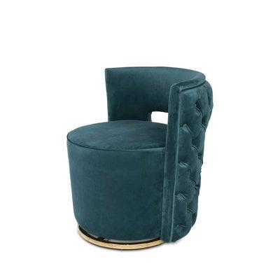 The Grand SWAN Arm Chair Pine Green Velvet