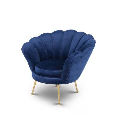 The Grand KIDS TRESOR Shell Chair Navy Velvet