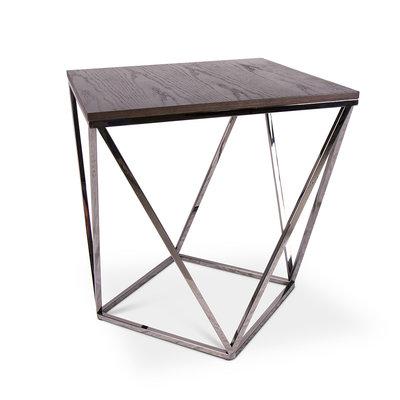 The Grand PUGLIA Side Table Charcoal Oak