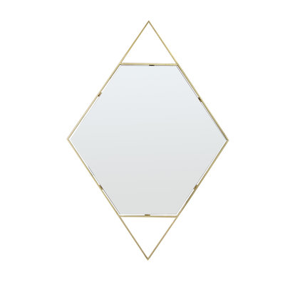 The Grand DIAMANTE Wall Mirror Gold 120x80