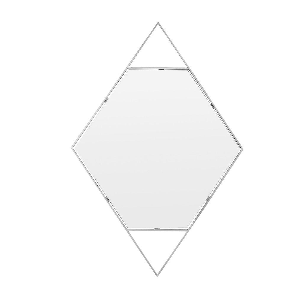 The Grand DIAMANTE Wall Mirror Silver 120x80