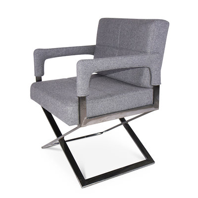 The Grand CROSS Arm Chair Mid Grey Cashmere