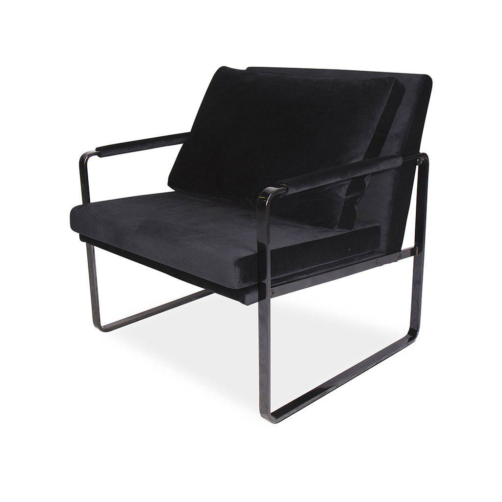 The Grand MILO Arm Chair Black Velvet