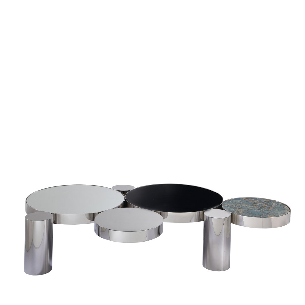 The Grand ALBA Coffee Table Silver