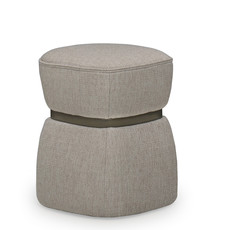 The Grand VERA Ottoman Light Taupe Hopsack