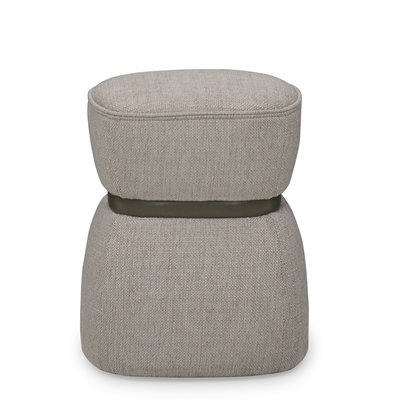 The Grand VERA Ottoman Mid Grey Hopsack