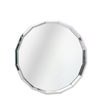 The Grand GARNET Wall Mirror Silver