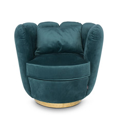 The Grand ACOLYTE Arm Chair Champagne Velvet