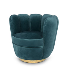 The Grand ACOLYTE Arm Chair Navy Velvet