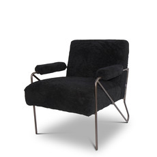 The Grand BLACK SHEEP Arm Chair Black Wool