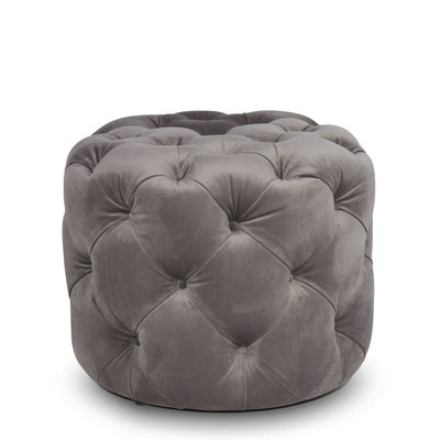 The Grand DELUXE Ottoman Dove Grey Velvet