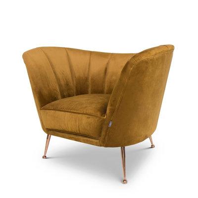 The Grand AVEIRO Arm Chair Ochre Velvet