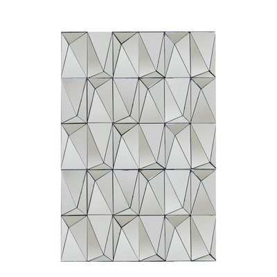 The Grand GEHRY Wall Mirror Silver 120x80