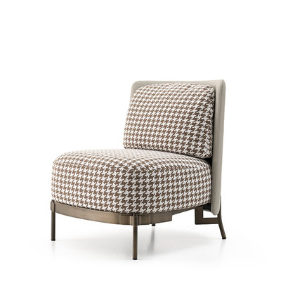 The Grand MULBERRY Arm Chair Brown Pied de Poule