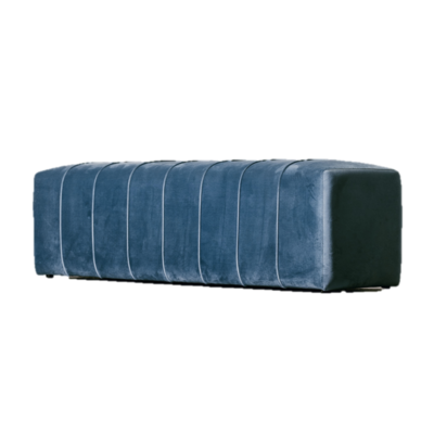 The Grand CAPRI Bench Ocean Blue Velvet