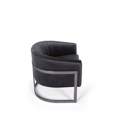 The Grand ROBERTO Arm Chair Steel Grey Nola Velvet